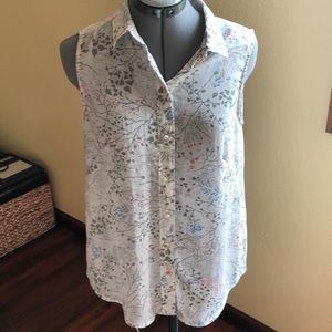 French Flowy Floral Blouse